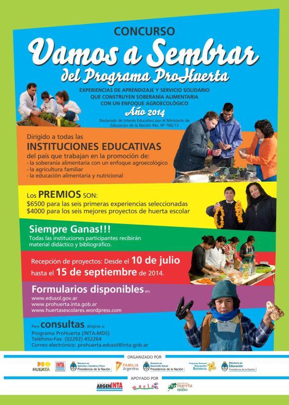 CONCURSO VAMOS A SEMBRAR 2014 - Afiche